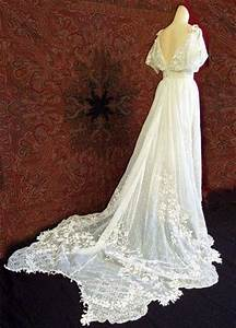 1930s antique style ivory lace wedding dress / gowns ...