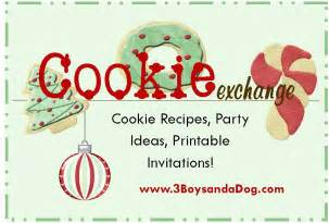 christmas cookie exchange ideas 3 boys and a dog