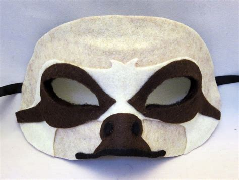 happenstance wedding felt animal masks