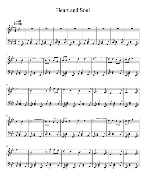 Sheet music book (view songlist). Heart and Soul Sheet music for Piano (Solo) | Musescore.com