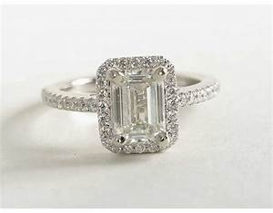 Emerald Cut Halo Engagement Rings | Wedding, Promise ...