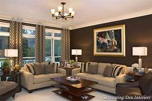Chocolate brown wall paint color in living room for Brown paint colors for living room