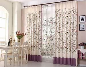 floral blackout blinds embroidered cotton fabric curtain With floral curtains in living room