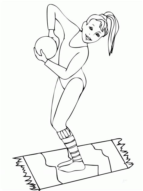Kleurplaat Turnen by Gymnastics Coloring Page Az Coloring Pages