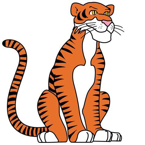 clip art cartoon tiger color abcteach