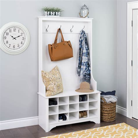 Entryway Bench With Shoe Storage And Coat Rack by Coat Rack Bench Cubby Storage Narrow Shoe Rack Organizer