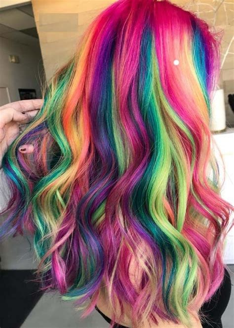 Coloured Hairstyles by Amazing Shades Of Rainbow Hair Colors For 2018 Best Hair