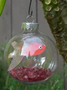 how cool gold fish ornament miss utah tree pinterest