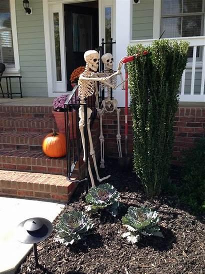 Yard Halloween Skeletons Decorations Porch Garden Decor