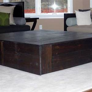 hand made square reclaimed coffee table quotthe monolithquot by With 5 foot square coffee table