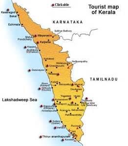 Kerala Tourism Map images