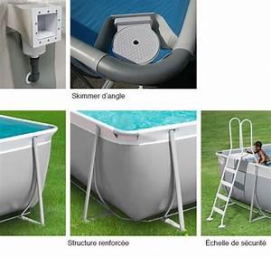 Preparation Terrain Pour Piscine Hors Sol Tubulaire : piscine hors sol tubulaire easy 4 48 x 2 53 m h 1 25 m ~ Premium-room.com Idées de Décoration