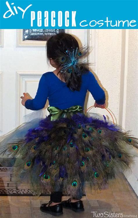 diy peacock costume  sisters crafting