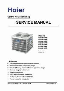 Haier Central Air Conditioning  Service Manual  Repair Schematics