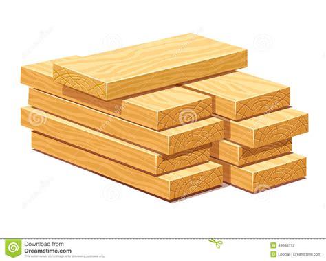 pile  wooden timber planks stock illustration image