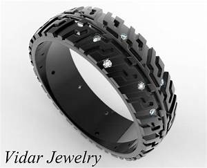 black gold wedding band tire tread diamondsunique wedding With tire wedding ring