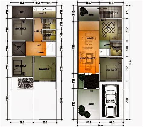 denah rumah sederhana korea desain rumah minimalis