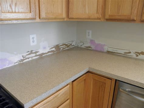 Metal Kitchen Backsplash Ideas - bathroom formica countertops l shaped with floating wood cabinets and white backsplash plus