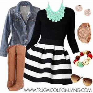 Fashion Friday Black and White Dress Outfit - Dress Down Your Dress Up LBD