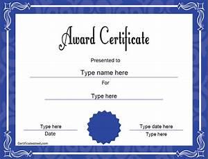 Award template for Certificatestreet templates