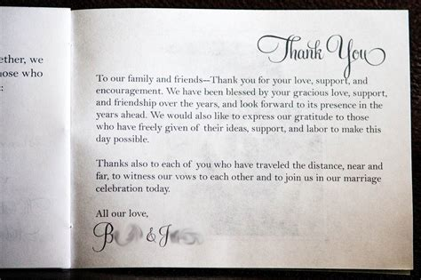 Wedding Thank You Card Wording That Are Meaningful