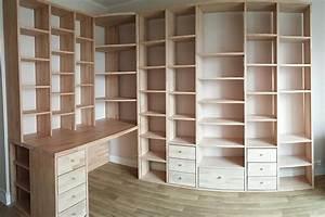 Etagere Sur Bureau : fabrication biblioth que et bureau d 39 angle sur mesure en bois ~ Teatrodelosmanantiales.com Idées de Décoration