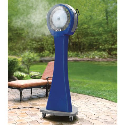 the 21 gallon portable misting fan hammacher schlemmer