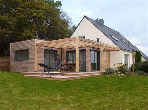 extension de plein pied en toit terrasse 50 m2 sur maison