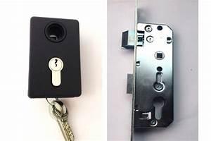 serrure pour porte de garage et portillon novoferm aidegar With porte de garage enroulable jumelé avec serrure barillet