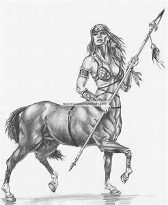 Female Centaur Warrior | Car Interior Design