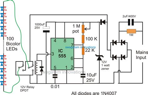 circuit colors 2 pin bi color led flasher circuit