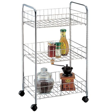 kitchen storage trolleys 3 tier storage trolley cart portable stand fruit vegetable 3194