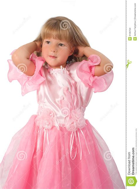 Little Girl In Pink Dress Stock Photo Image Of Face