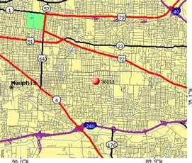 Memphis Zip Code Map