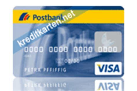 postbank visa kreditkarte