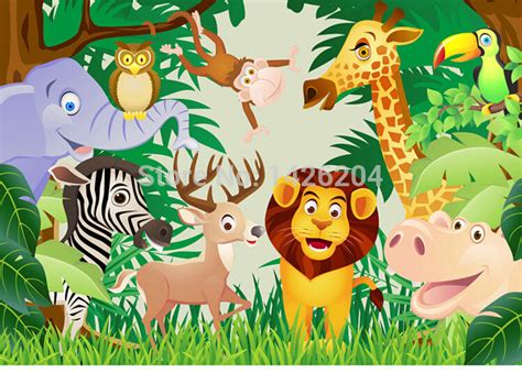 Animal Wallpaper For Children S Bedroom - great wall animal 3d wallpaper roll murals