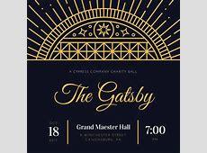 Customize 204+ Great Gatsby Invitation templates online