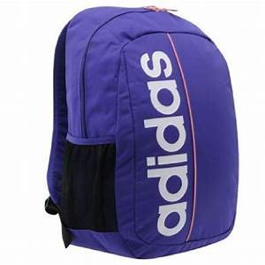Adidas backpack travel laptop bag gym sport school purple ...