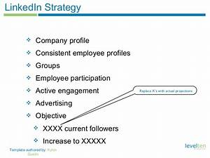 social media strategy template With linkedin strategy template