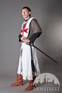 Knight Crusader Templar Tabard with red cross for sale ...