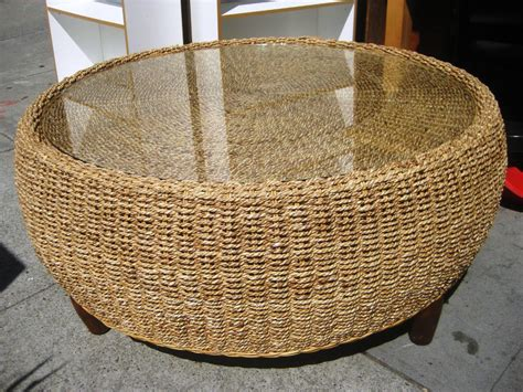 drum coffee table wicker coffee table all furniture decoration