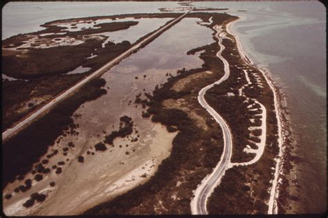 key aerial west largo park state overseas midway segment between shows florida keys 1970s highway nara water road during flashbak