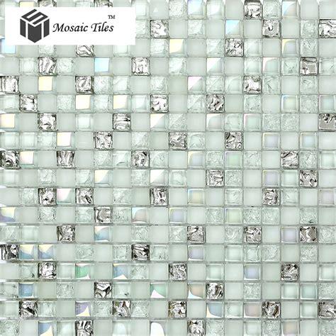 white mosaic tile tst glass mosaic tile aqua iridescent silver