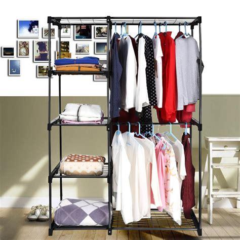 Cloth Closet Organizers by Rod Closet Organizer Hanging Rack Clothes Storage