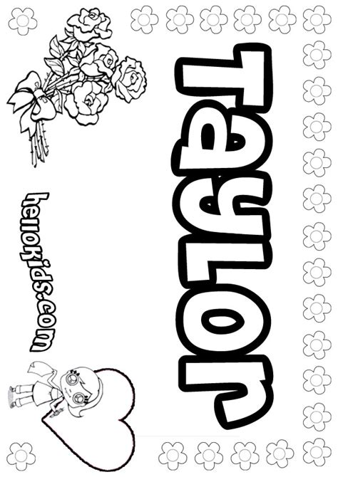 girls  coloring pages taylor girly   color