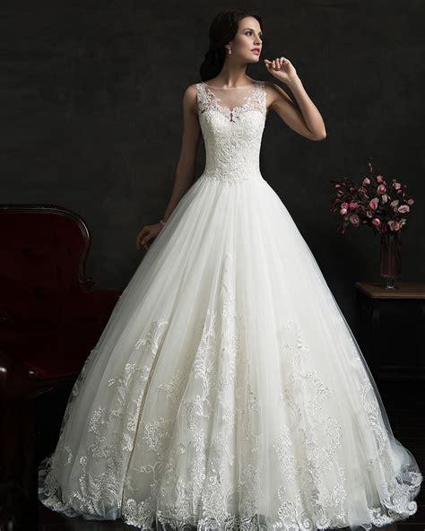 Vestido De Noiva Renda Vintage Lace Princess Wedding Dress