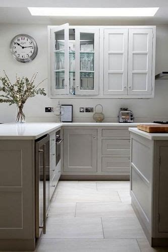 white tile kitchen floor