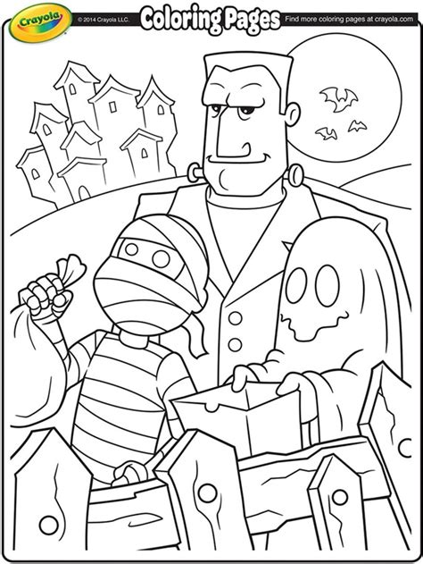 Permalink to Trick Or Treat Colouring Page