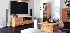 Meuble TV En Bois Massif 3 Tiroirs SOHO