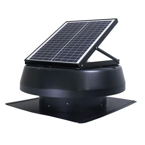 Iliving Smart Solar Attic Round 14 In Black 1750 Cfm